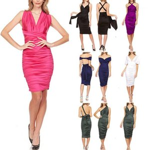 Short Skirt Designer New Female Casual Slim Sexy Dresses More Wear Sexy Ladies Dress Fashion Trend Cross Breast Wrap Short Sleeve