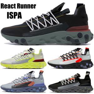 Reagir espuma Runner ISPA correndo sapatos masculinos mulheres de baixo marrom de veludo preta do fantasma do Aqua Platinum Tint Volt das sapatilhas dos homens US 5,5-11