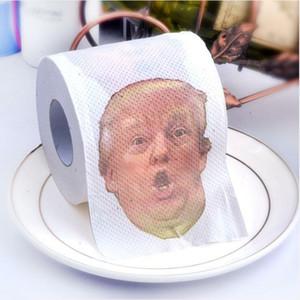 Trump Toilet Paper colorido Fun Rolo de Papel Tissue criativa Banho engraçado rolo de papel higiénico Presidente Papel Donald Trump WC Papers DHA725
