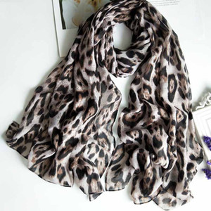 luxury- Fashion Leopard Print Scarf Spring Summer Shawl Wraps Dual Purpose Scarves Autumn Winter Warm Cotton Pashmina Cape Ring Accessories