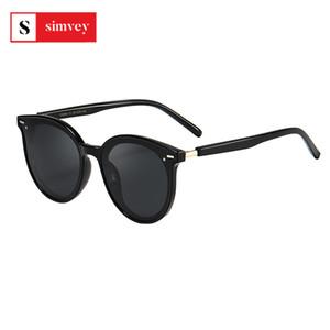 Güneş Gözlüğü Simvey Moda Bayan Kedi Göz Tasarım Bayanlar Büyük Boy Tasarımcı HD Polaiize Lens UV400
