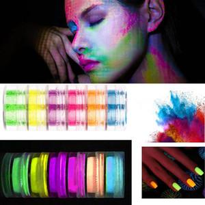Luminous Phosphor Powder Nail Glitter Powder Dust Glow In The Dark Party Makeup Pigment Nail Glitters Eye Shadow