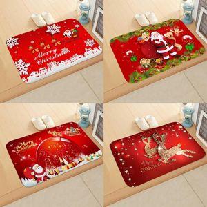 40x60cm franela Felpudo decoraciones de Navidad para el hogar 2020 de Navidad Colgantes Adornos de Navidad de Santa Claus muñeco de nieve Año Nuevo 2021