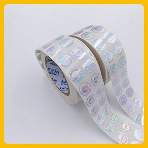 Custized laser printed anti-fake security void round hologram roll sticker label