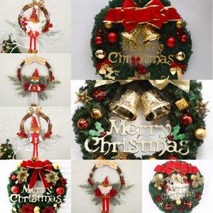 Bq53W Kranz Weihnachten Rattan Tür hängend Weihnachtsgeschenke Rebe Man Feiertagsdekoration Weihnachten Blumengirlanden Weihnachts Ring Schnee Wanddekoration CG