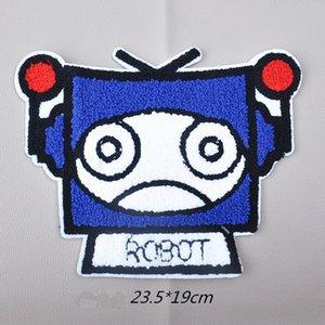 bordado grande robot grande parche animales parches insignias applique parches para la ropa XD-6