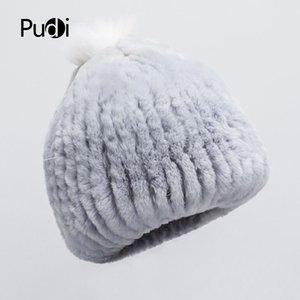 Pudi HF7043 cappello berretto invernale ragazza caldi Rex sciarpa di pelliccia sciarpe delle donne della pelliccia set sciarpa invernale