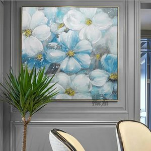 Home Goods Wall Art Canvas Painting Modern Hotel Hall Decor Flower Oil Painting Artwork Panel Set Hangings on Canvas for Home
