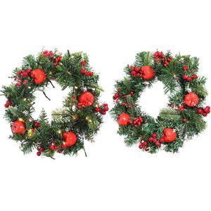 New High Quality Christmas Growing Cherry Wreath Handmade Vine Pendant For Christmas Tree Decoration Ornament