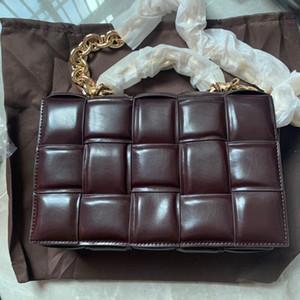 Outono e inverno 2020 de venda quente travesseiro saco de sacos de tricô moda couro ombro único de mulheres Messenger Bag versátil saco pequeno quadrado