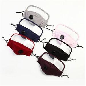 Mask 2 in 1 frontale per lo schermo di protezione in plastica maschere di isolamento Protezione Full Face anti-fog protezione Olio maschera respiratoria valv DHE457 all'ingrosso
