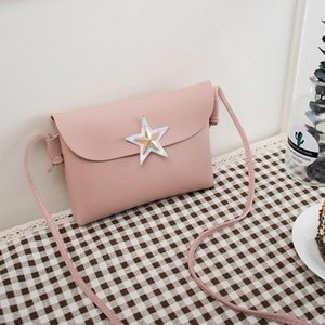 Messenger Bags For Women 2018 New Mini Korean Style Fashion Flap Leather High Quality Shoulder Bag Star Decoration Crossbody Bag Cross jR1p#