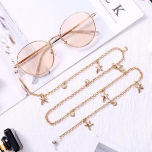 Mode Femmes Chic lunettes Gold Chains Lunettes de soleil Lunettes de lecture de perles chaîne Eyewears cordon Holder Collier corde Eyewears