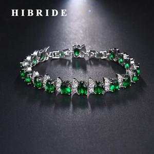 HIBRIDE 7 colores joyería pulseras del encanto de las mujeres de moda saludable Soprts BraceletsBangles Nicklel gratuito B-98