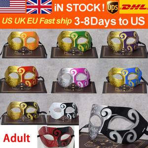 SICAK SEELINGNEW Maskeler Venetian Masquerade Partisi Noel Hediyesi Mardi Gras Man Kostüm Yarım Yüz dans Halloween Maskesi