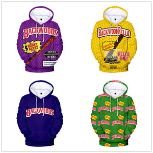 Men Hoodies Backwoods 3D Print Streetwear Fashion Hoodie Men women Autumn Winter Oversized Hip Hop Sweatshirt Casual Male Coats