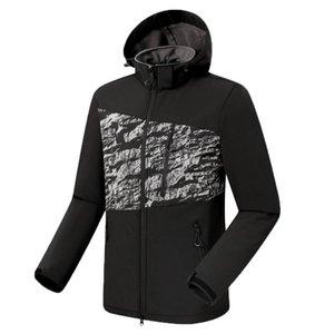 Camping Randonnée Veste d'hiver d'hommes Sports de plein air Manteaux Escalade Trekking Voyage coupe-vent imperméable Vestes Noir #C