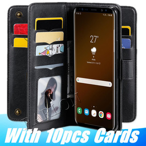 New Leather Wallet Magnetic Double layer Cover Cases For Iphone 12 11 pro max xs xr Samsung Galaxy S20 Plus S10 E Note 20 ultra A71 A51 A91