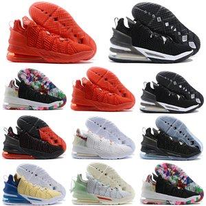 عالية الجودة جيمس ما أحذية الثامن عشر ليبرون جيمس 18 جامعة قانغ المستقبل أوريو أسود أحمر أبيض وكرة السلة 18S الاطفال النساء الرجال أحذية رياضية
