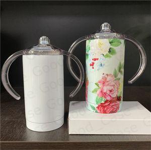 Diy Boş Şişe SICAK F92505 için Sap Blank Paslanmaz Çelik En iyi ile 12oz Sublime Düz Beyaz Termos bardak Bebek Çocuk Süt Şişeleri