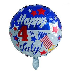 Day of The United States Balloon Suit Free Size Aluminum Foil Fashion Costume Accessories Toys Independence