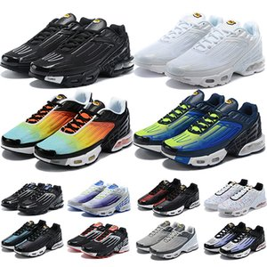 Nike Air Max TN Plus 3 Chaussures de course Hommes Femmes Northern Southern Lights Sea Forest Gris Carbone Blanc Noir Rouge Jaune Plein-Air Sportif Sneakers Vente En Ligne