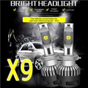 Dyoung 2PCS LED مصباح بقيادة مصباح 110W 13200lm لH7 D2 H1 H11 H4 H13 9004 9005 9006 9007 9012 عدسة رقائق X70 سيارة التصميم