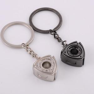 Car Key Ring Car Key Chain Accessories For Mazda RX8 236 Atenza Axela Rotatable Wankel Keychain Motor Rotor Turbo Keychain Parts