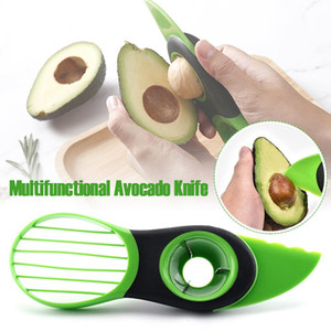 3 In 1 Avocado Slicer Peeler Cutter Tools Multifunction Fruit Splitter Plastic Knife Peeler Scoop Separator Tool Kitchen Gadget