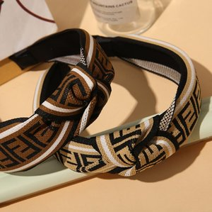 Designer Fashion Hair Frauen Stirnband für Frauen-Mädchen arbeiten Turban gestreifter Haar-Band-F Brief Briefe Muster-Druck-Haarschmuck