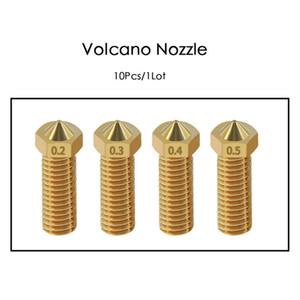 Drucken 3D-Drucker-Teile Zubehör 10Pcs 3D-Drucker Vulkan Düse 0.2-1mm Für 1.75mm High Flow Big Caliber Lengthen Copper noz ...