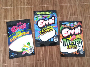 2020 new errlli gummy bag errlli twisted crawlers edibles packaging 600mg smell proof zipper resealable plastic