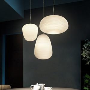 Simple White Glass Cord Pendant Lamp Milky Ball Hanging Lights Bedroom Thread Cloud Pendant Lamps AC 110V 220V