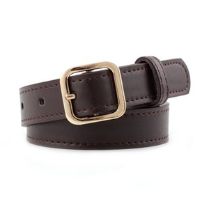 Fashion High Quality Black Pu Leather Belts For Women Gold Silver Color Metal Pin Buckle Waist Belt Casual Dress Jeans Wasitband