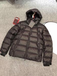 Hombres chaqueta de invierno tamaño cómodo suave plumón de ganso 90% Leveda ocasional capa de la manera maya 1-6