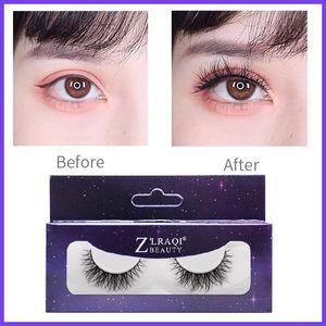 New Handmade Fluffy False Eyelashes Natural Curly Cross Makeup YY Fake Eyelashes Extension Tool A Typle