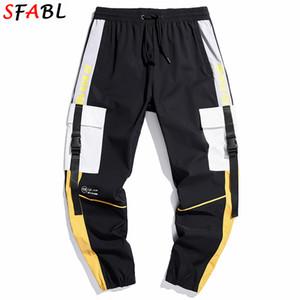 SFABL Fashion Patchwork Cargo Pants Men Harem Joggers Pants High Street Harajuku Men Sweatpants Hip Hop Trousers Streetwear Male