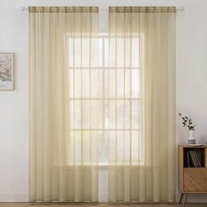 Transparent White Tulle Curtains For Living Room Bedroom Kitchen Short Small Voile Sheer Curtains Modern Window Treatments Drape