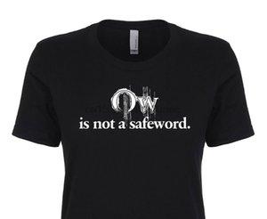 아야 아닙니다은 SafeWord 여성 T 셔츠 반디 BDSM (새디즘, 마조히즘 등)