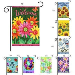 30*45cm Garden Flag Festival Party Home Decor Sunflower Banner Flags Lawn Decor Waterproof Encryption Linen Flag J001