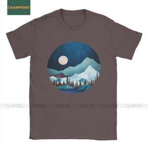 Moon Bay Wild Life Männer-T-Shirt Bäume Reisen Walderlebnisberg Tiere Hills Tees Kurzarm T-Shirt aus reiner Baumwolle