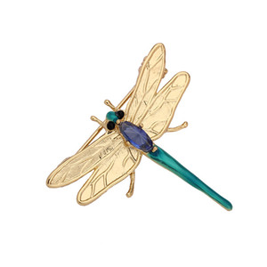 Fashion luxury dragonfly insect brooch coat cardigan pin student children scarves buckle accessories wholesale