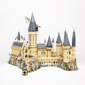 US EU in magazzino 16060 serie film 6020pcs Hogwartsins Magic Castle con 71043 Building Blocks Bricks Toys Gifts Regali