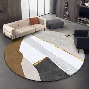 Nordic rotonda tappeto del salotto casa da letto Tappeto rotondo Computer Chair Tappetino Divano Tavolino tappeti e moquette Guardaroba Mat
