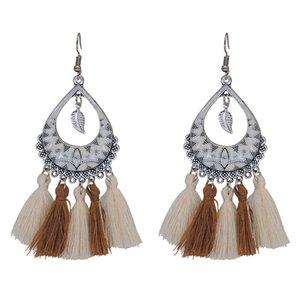 Bohemian National Style Women's Long Tassel Elegant Stud earring Retro earring fashion jewelry