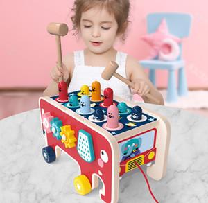 Primo gioco Cartoon Whack-A-Mole in legno Gioco di legno Criceto Auto Digital Maze Education Gear Bambini Gifting Rotating Gifts Elephant per LPodm
