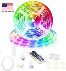 Scatola al minuto SMD 5050 Led strisce RGB Luci Kit impermeabile IP65 150 LED + 44 chiavi telecomando + 12V 5A Alimentazione