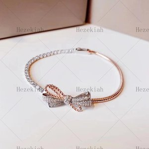 Hezekiah bow bracelet Temperament luxury fashion Dance party Ladies and ladies bracelet high quality