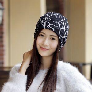 Women's Fashion Letters Hat Turban Hats UK Flag Hat Postpartum Caps Multi-purpose Scarf Hats For Women Head Cap Beanie Headwear