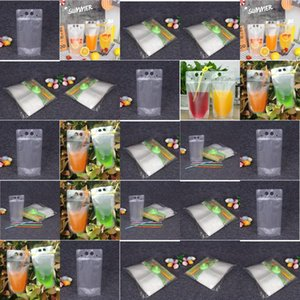 Hot Creativity Self Sealed Plastic Beverage Bags Diy Drink Container Drinking Fruit Juice Storage Bag Disposable Party Supplies zlstore007 P